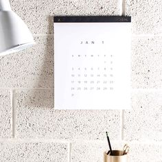 Oversized, printed on a beautiful uncoated cover stock wall calendar.…