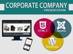 Corporate company presentation Digital Marketing Plan, Company Presentation, Mobile Friendly Website, Seo Sem, Mobile Marketing, Web Development, Campaign, Web Design, Social Media