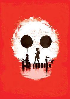 Bye Bye Apocalypse (red ver) Art Print