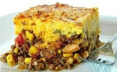Crock pot tamale pie is easy and yummy. Dump it all in the pot on your way out the door and come home to warm perfection. I like avacodos and sour cream on top. Yum!