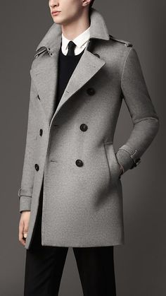 Shop for Mid-length Wool Cashmere Trench Coat by Burberry at ShopStyle. Men's Coats And Jackets, Jackets For Women, Coats For Men, Boys Coats, Mens Dressing Styles Casual, Suit Fashion, Mens Fashion, Man's Overcoat, Top Mode