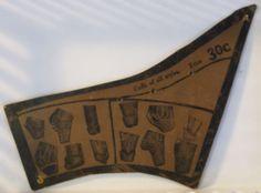 RARE Antique 1800's Victorian Ladies Dress Cuff Makers Sewing Pattern JB Plant | eBay