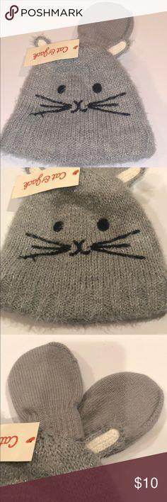 3485ea87edb Cat   Jack Infant hat   mittens set grey baby Cat   Jack Infant hat   mittens  set grey baby New with tags Cat   Jack Accessories Hats