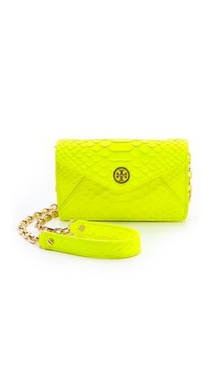 Tory Burch-Neon Snake Cross Body Bag. Not crazy about the logo but otherwise, awesome bag!