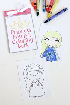 Kids Printable Coloring Book made with the Silhouette