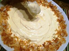 Coconut Cream Pie Dip //  1 15 oz can cream of coconut 1/4 cup milk 1 large box instant pudding 1 14 oz can sweetened condensed milk 2 cups sweetened flaked coconut, toasted and divided 1 8 oz tub cool-whip, thawed graham crackers or shortbread cookies for dipping