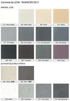 nuancier 2013 concrete color charts - Beton Color
