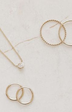 Vrai & Oro Essentials for your everyday jewelry wear. Scandinavian & other minimalist style brands that make quality jewelry for women. Ear Jewelry, Yoga Jewelry, Sea Glass Jewelry, Fine Jewelry, Simple Jewelry, Modern Jewelry, Dainty Jewelry, Gold Jewellery, St Michael Pendant