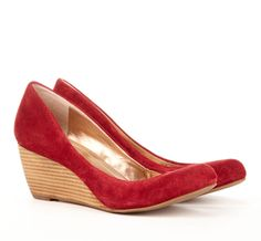 Cute red wedge from Sole Society... I don't normally wear heels, but I think I could handle these wedges.