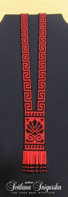 Red black necklace Red black jewelry Red necklace Greek