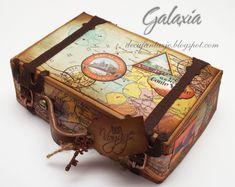 Jak zrobić mini walizkę z papieru | Galaxia-Art.pl