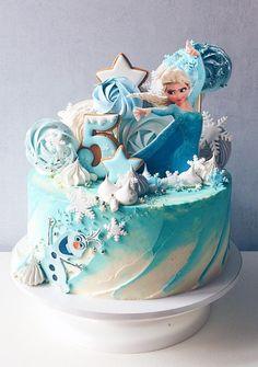 Frozen Themed Birthday Cake, Frozen Theme Cake, Frozen Themed Birthday Party, Disney Frozen Birthday, 4th Birthday Cakes, Frozen Birthday Cake, Themed Cakes, Birthday Parties, Geek Birthday