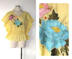 Vintage 70s Boho Shirt / 70s Shirt / 1970s by BreesVintageRevivals, $34.00
