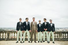 YESSS I dig the mint pant, bow tie and navy blazer just for the groomsmen