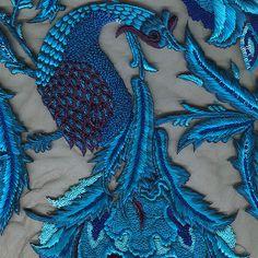 Rohit Bal's design leitmotif—the peacock