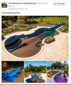 The architect behind the Flute Swimming Pool: | 28 People Who Are Too Dumb For Their Own Good
