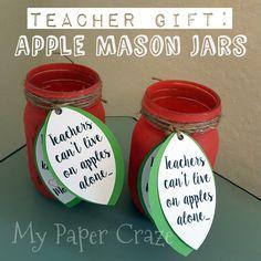 Mason Jar Apples for Teachers by My Paper Craze