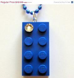ON SALE Dark Blue LEGO R brick 2x4 with a by MademoiselleAlma, $9.09