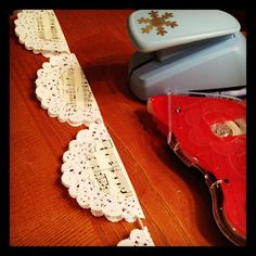 music/doily garland from the queen of garland--Marjorie Romney Aslett