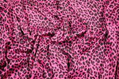"Fabric Polyester Interlock Cherry Black Cheetah 59""Wide BTY YF250 | eBay"