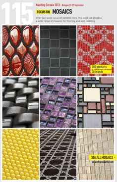 Archiproducts FOCUS ON | #mosaics - more than 380 products awaiting for Cersaie 2013 www.archiproducts.com/it/focus/158156/focus-115.html