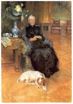 Portrait of Gothilda Furstenberg, 1891  Carl Larsson
