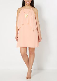 473279266ec Plus Peachy Popover Chiffon Dress