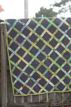 Scrap Quilt on Grey for Grandparents | All in One Day's Time