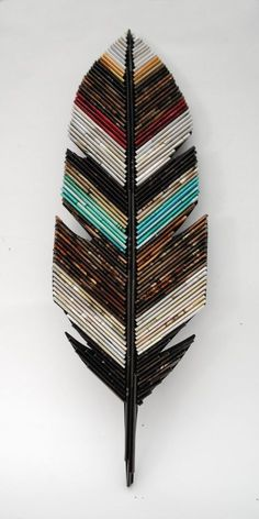 Large feather neutral colored wall art made from recycled magazines unique home decor interior design unique handmade native natural 6 Humorous Cool Ideas: Natural Home Decor Ideas Headboards natural home decor diy wall art.Natural Home Decor Bedroom Insp Recycled Magazine Crafts, Recycled Paper Crafts, Recycled Magazines, Newspaper Crafts, Old Magazines, Recycled Crafts, Recycled Home Decor, Newspaper Basket, Recycled Pallets
