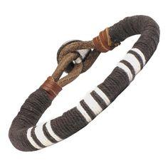 Men's Medallion Leather Bracelet