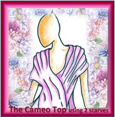 See how on Youtube:¬******************  The Cameo Top – elegant, romantic, Women's Top for any occasion.  2 Scarves, only straight lines of stitching (beginner to advanced) in only 1 – 2 hours. Short Scarves, Straight Lines, Long Scarf, Fabric Art, Tree Branches, Stitching, Art Pieces, Aurora Sleeping Beauty, Romantic