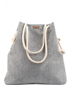 Tkaninowa torebka basic jasno szara - me