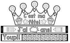Learn French Videos To Get French Verbs Presents Code: 3402380682 Classroom Crafts, Kindergarten Classroom, Classroom Organization, Classroom Management, Diy Birthday Crown, Birthday Crowns, Birthday Board, Teaching French Immersion, Teaching Character