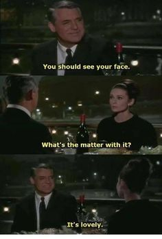 "Cary Grant and Audrey Hepburn, ""Charade"" (1963) I could watch this movie everyday and never gets old"