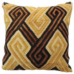 Orange African Pillow No. 2 | From a unique collection of antique and modern pillows and throws at https://www.1stdibs.com/furniture/more-furniture-collectibles/pillows-throws/