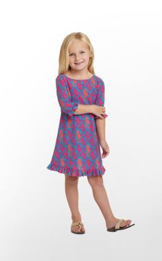 Slubby cotton jersey saves the day! Our Little Somerset dress is sure to become a fast favorite thanks to its comfortable, breathable fabric, easy silhouette, and fun ruffle details at the hem and sleeves. In great resort prints, what