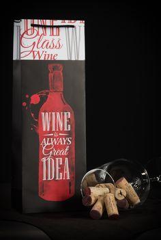 Adni jó, a bor pedig mindig remek választás. Italtasakjainkban mégjobban mutatnak!