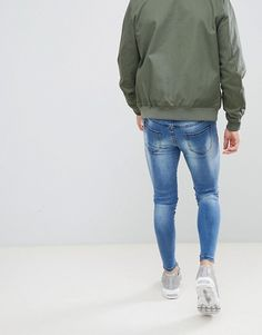 Good For Nothing super skinny jeans in blue at ASOS. Tight Jeans Men, Men's Jeans, Men's Fashion, Fashion Outfits, Tights Outfit, Skin Tight, Super Skinny Jeans, Male Beauty, Mens Clothing Styles