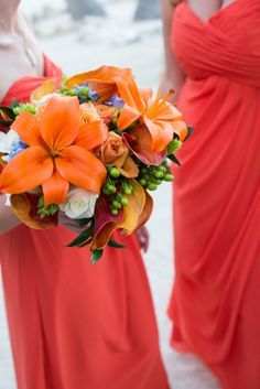 orange tiger lilies bouquet. Photo taken by Caterson Media caterson.com at Coconut Cove Resort in Islamorada, FL
