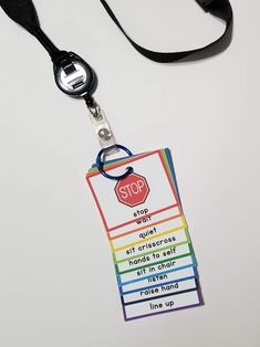 Visual Cue Cards on Lanyard for SPED and Early Childhood | Apples to Applique