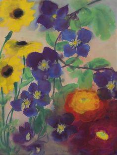 Emil Nolde (1867-1956) Blumen (45,4 x 35 cm)