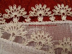 İğne oyası Crochet Trim, Thread Crochet, Crochet Stitches, Needle Lace, Bobbin Lace, Lace Art, Hairpin Lace, Point Lace, Embroidery Needles