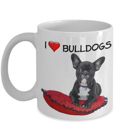 I Love Bulldogs Novelty Coffee Mug for Dog Lovers Funny Puppy Memes, Funny Dogs, Cute Dogs, Funny Dog Pictures, Funny Images, Bulldogs, Dog Lovers, Coffee Mugs, Puppies