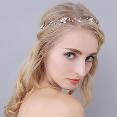 A dainty headband or vine style that adds just the right amount of sparkle to your special day with shimmering crystals. Perfect for a variety of bridal hairstyles and looks. Wedding Headband, Bridal Headbands, Wedding Looks, Wedding Day, Vestidos Fashion, Feather Headpiece, Crystal Wedding, Austrian Crystal, Wedding Party Dresses