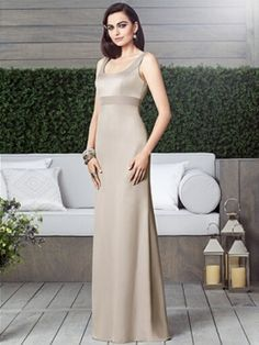 Full length sleeveless empire waist renaissance dress w/ scoop neck and rhinestone bow medallion detail at back.  available in any size and custom size