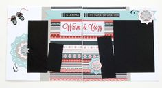This layout uses my favorite paper pieced winter stamp image: Classy Doily, along with sparkle flourishes and cranberry baker's twine