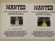 The Stuff We Do ~ Wanted Posters, we made for Western Week ~ Melissa & Sherry