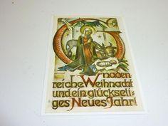 """vintage unused  greeting cards  ARS SACRA   B.I.Hummel """" christmas""""448"""""""