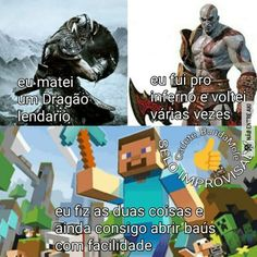 REXPEITA O MINECRAFY KOROI Funny Memes, Jokes, Memes Status, Minecraft Memes, Video Game Characters, Country Art, Gaming Memes, Nerd Geek, Otaku Anime