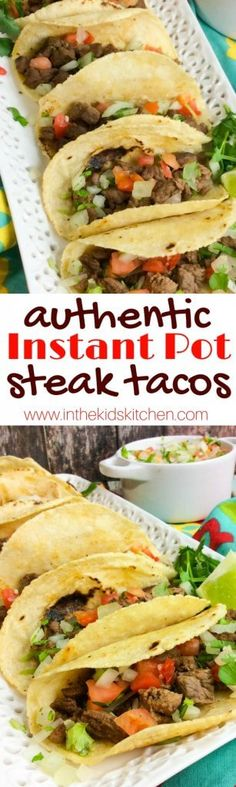 Make tender, juicy, and flavorful Carne Asada Tacos in a fraction of the time! With this easy Instant Pot recipe it takes just MINUTES for an amazing meal!